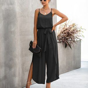 COMING EMPIRE WAIST JUMPSUIT DRESSY HAREM PANTS